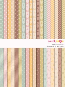 Digital paper seamless background, 36 basic patterns (LP022A)