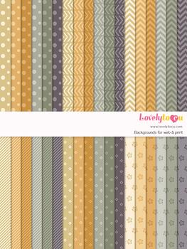 Digital paper seamless background, 36 basic patterns (LP023)