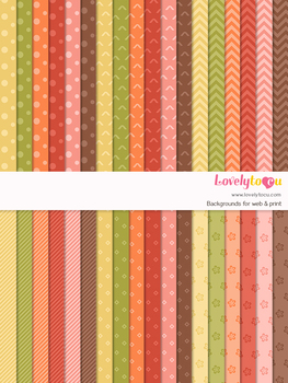 Digital paper seamless background, 36 basic patterns (LP024)
