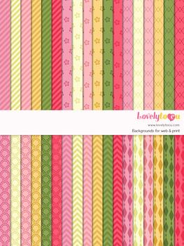 Digital paper seamless background, 36 basic patterns (LP028)