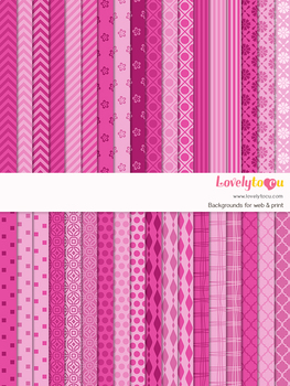 Digital paper seamless background, 36 basic patterns (LP029)