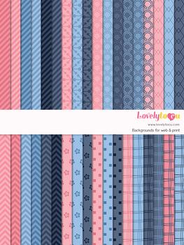 Digital paper seamless background, 36 basic patterns (LP030)