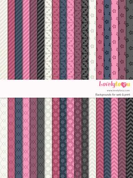 Digital paper seamless background, 36 basic patterns (LP033A)