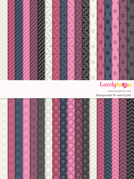 Digital paper seamless background, 36 basic patterns (LP033A)