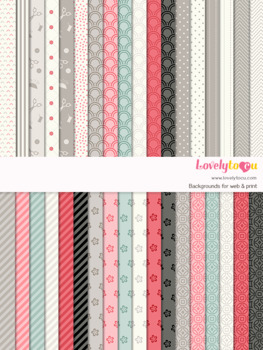 Digital paper seamless background, 36 sewing theme patterns (LP031)