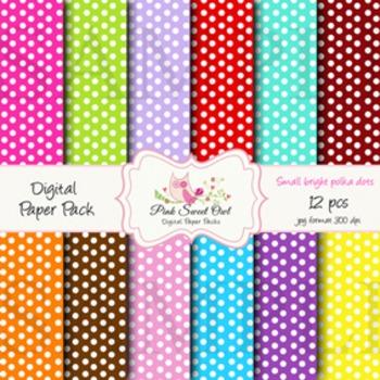 Digital paper - small polka dot - paper background