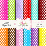 Digital paper - small polka dot - paper background