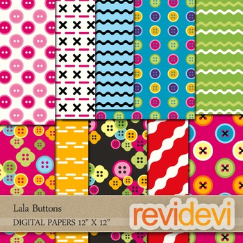Digital papers for background - Lala buttons - set of 10