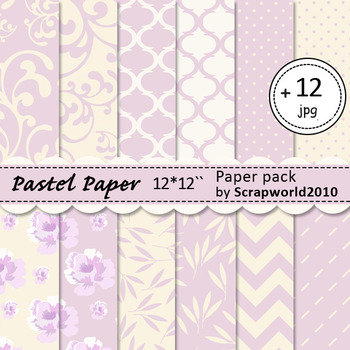 Digital pastel paper pack, pattern