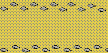 Digital polka dots collage grey, yellow with fish, png files, graphics, icon,