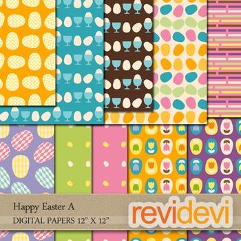 Digital scrapbook papers - Happy Easter A