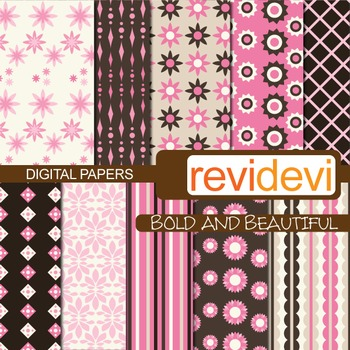 Digital scrapbook papers for background - Bold and beautif