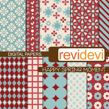 Digital scrapbook papers for background - Happy spring moment