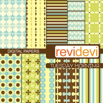 Digital scrapbook papers for background - Tuesday morning