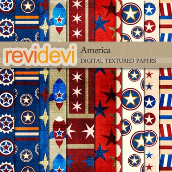 Digital scrapbook textured papers - America 10070 (fourth of july)
