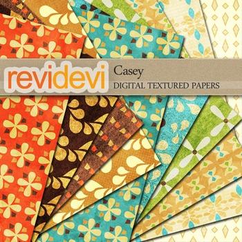 Digital scrapbook textured papers - Casey 10072
