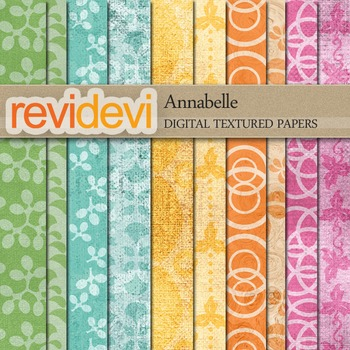 Digital scrapbook textured papers for background - Annabel