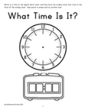 Digital to Analog Clock Practice