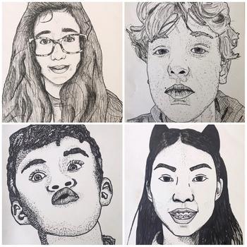 Digital to Traditional Self Portraits