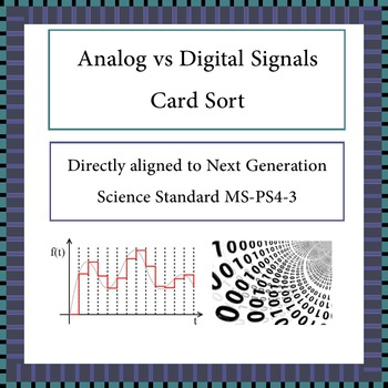 Digital vs Analog Signals Card Sort NGSS MS-PS4-3