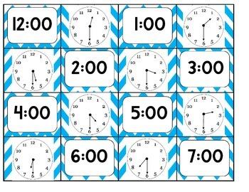 Digital/Analog Clock Matching Game