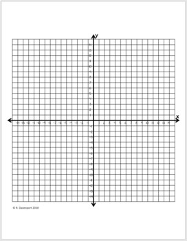 Digits 0 to 9 (Graphing on the Coordinate Plane)