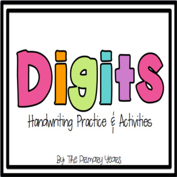 Digits {Handwriting booklet, printables, and activities}
