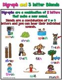 Digraph & 3-Letter Blends Worksheets Orton Gillingham Spelling