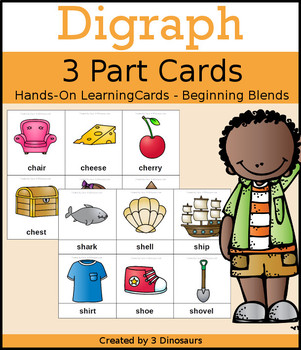 Digraph 3 Part Cards