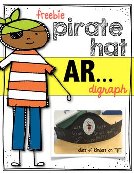 Digraph AR Pirate Hat { Freebie } for Kindergarten and Fir