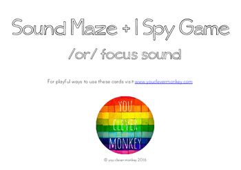 Controlled 'or' Sound Maze and I Spy Game