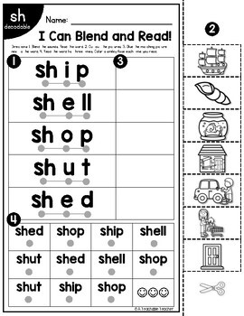 Digraphs Worksheets | Blending & Reading Words with Digraphs