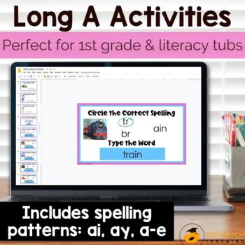 Vowel Digraph Worksheets and Activities a-e, ai, ay