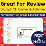 Digraph Activities, Games & Worksheets {ch}