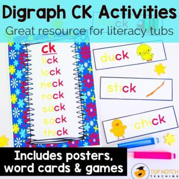 Digraph Activities, Games & Worksheets {ck}