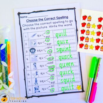 Digraph Activities, Games & Worksheets {qu}