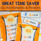 Qu Digraph Worksheets and Activities