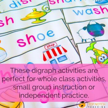 Digraph Activities, Games & Worksheets {sh}