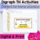 Digraph th Games, Activities and Worksheets