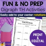 th Digraph Worksheets and Activities