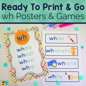 Digraph Activities, Games & Worksheets {wh}