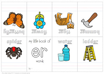 Digraph Activities /er/ir/ur/ - controlled 'r' sounds
