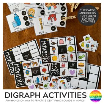 Digraph Activities /er/ir/ur/ - controlled 'r' sounds