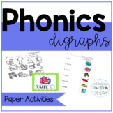Digraph Activities for First Grade and Kinder:  wh, th, ph