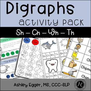 Digraph Activity Pack - Ch-Sh-Th-Wh