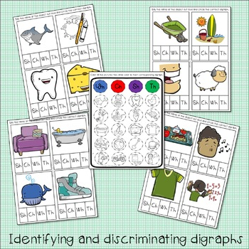 Digraph Activity Pack: Articulation Therapy