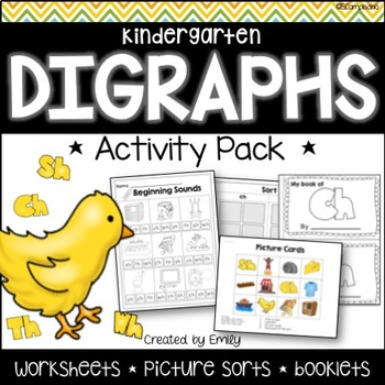 Digraph Sorts | no-prep worksheets, booklets, and centers