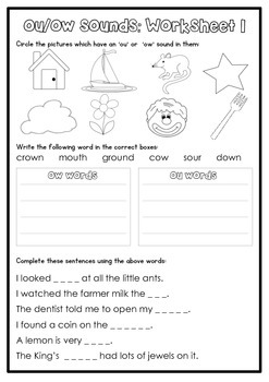 Digraph Activity Sheet: ou/ow