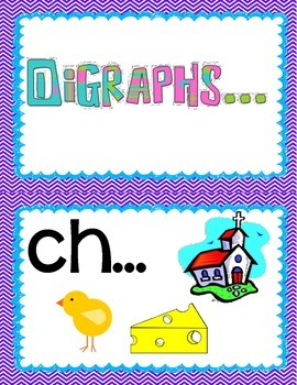 Digraph  Anchor  Chart Cards