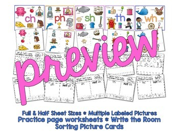 Digraph Anchor Charts & Practice Pages for Little Learners